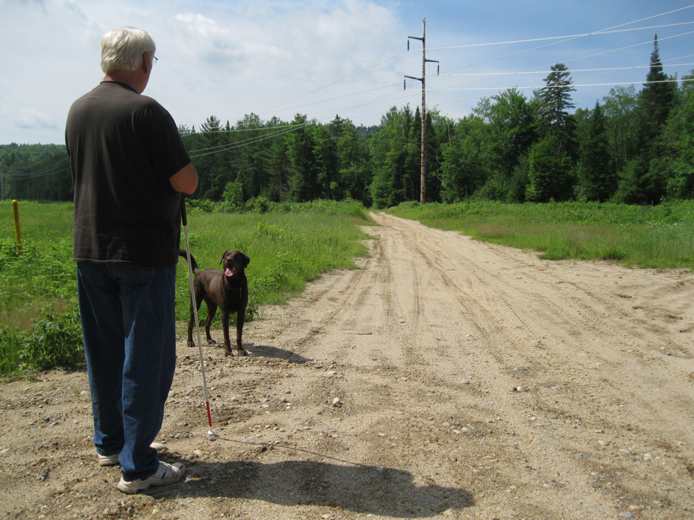 Jean Courcy and  his dog of Waterford Maine;  our first  contributor in     August 2013