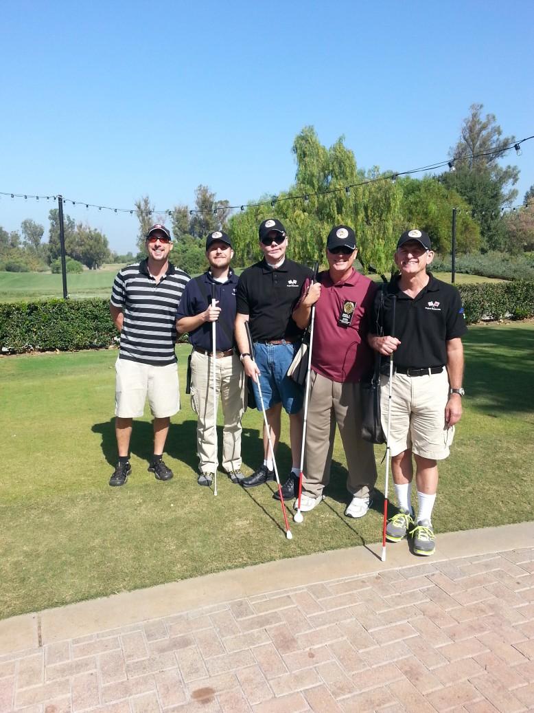 Photo of 5  veterans from the Blinded Veterans' Association (B.V.A. website