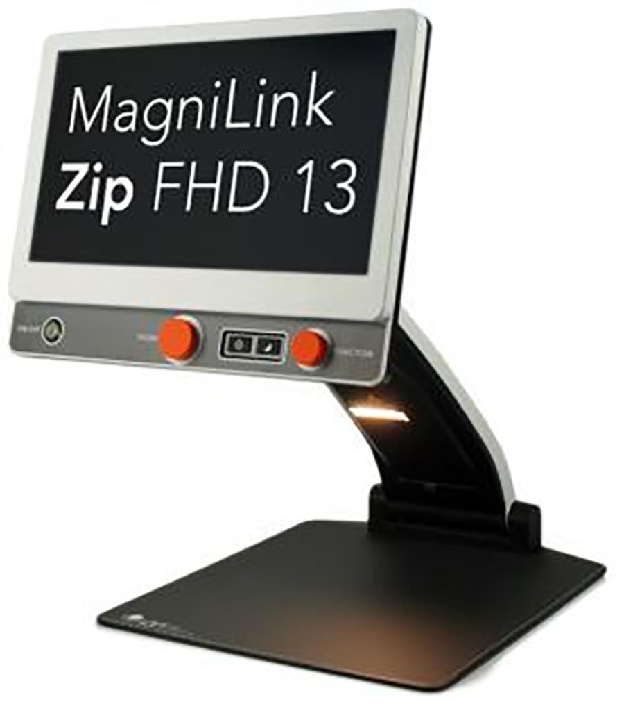 One of the new sleek desktop video magnifiers